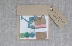 Folk Flowers Craft Kit by Nancy Straughan on Little Paper Planes $12