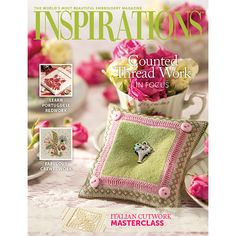 Pincushion idea - make square pincushion from pretty fabric, add trim (if desired) and sew a metal charm in the centre.