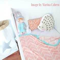 Nothing nicer than a soft warm blanket for the little ones.. especially when they come looking as gorgeous as this.. To find this search 'peach herringbone' on dtll.com.au (link in profile) #blanket #kidsroominspo #peach #kids