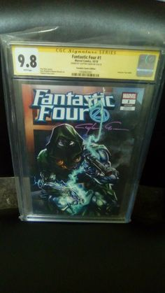 Fantastic Four #1 Excl. Scorpion Comics,CGC SS,9.8.Signed BY Clayton Crain! Avengers 1, Young Avengers, Metropolis Comic, Fantastic Four 1, Funeral Pyre, Comic Conventions, 8th Sign, White Pages, Amazing Spider