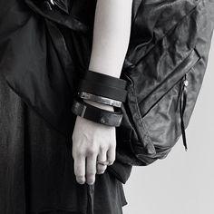 WILDHORN bracelets. @139dec backpack available at #wildhorn #wdh #139dec #backpack #rucksack #avantgarde #darkwear
