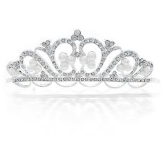 Bling Jewelry Bride To Be Tiara ($30) ❤ liked on Polyvore featuring jewelry, tiara, accessories, fashion-headbands, white, bride jewelry, bridal jewellery, white crown, bridal crown and white jewelry