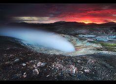 Steam and Fire - Hrafntinnusker, Iceland   Flickr - Photo Sharing!
