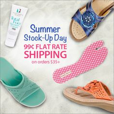 Now's the time to stock up on comfortable shoes with $0.99 shipping! Use Code: PN99FLAT