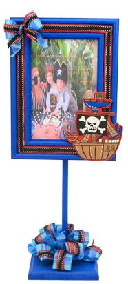 Portarretrato para fiestas infantiles / Marco de madera / Centro de mesa