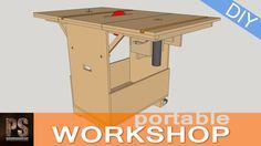 Having a big, nice woodcutting station is great, but not everyone has the space required for that. DIYer Paoson Woodworking solves this with a portable workshop that folds down when not in use.