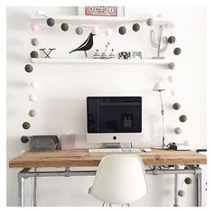 Love his snap of the Cotton Ball Fairy Lights in pink and grey shades THE perfect decoration for your office! Shop all fairy light and lots of colours now pennyrosehomegifts.co.uk
