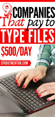 Typing Jobs From Home, Online Typing Jobs, Work From Home Jobs, Earn Money From Home, Way To Make Money, Make Money Online, Start A Business From Home, Online Business, Typing Skills
