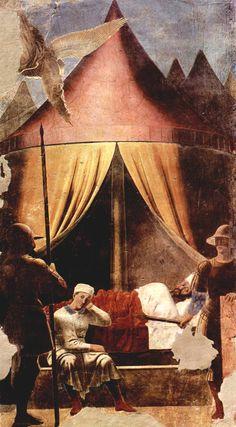 piero della francesca, il sogno di costantino - 1458