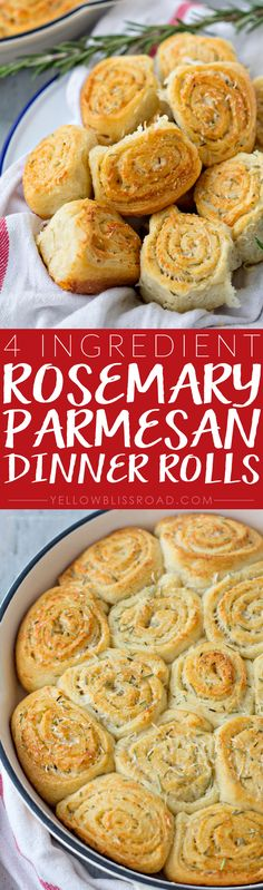 4-Ingredient Garlic Parmesan Rosemary Dinner Rolls ~ made easy with Pillsbury Crescents