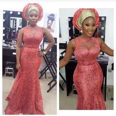 Here are some aso ebi trendy styles from the weekend. # Lace styles Galore