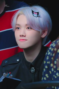 is it possible to look so similar to the kuromi hairpin in his head,,, ㅡ 190906 © elfin_mh Ill Wait For You, My Goal In Life, All About Kpop, Ulzzang Korea, Quantum Leap, Starship Entertainment, Korean Music, Debut Album, News Songs