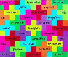 Adjetivos Spanish Grammar, Spanish Vocabulary, Spanish Words, Spanish Lessons, Spanish Language, Spanish 1, Bilingual Classroom, Spanish Classroom, Spanish Teacher