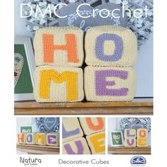 Decorative Cubes Home-maker takes on a whole new meaning when you make these Decorative Cubes. This DMC pattern leaflet, with its easy to follow steps, helps you create an endearing set of cubes, making it a charming hostess gift or a darling accessory for your home.