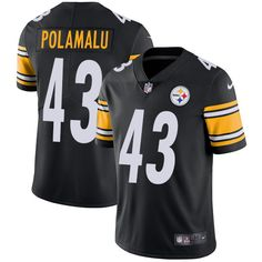 c3bd46cc8 Nike Steelers Troy Polamalu Black Team Color Youth Stitched NFL Vapor  Untouchable Limited Jersey And Taco Charlton 97 jersey
