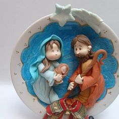 Presépio de Natal no Elo7   Puro Biscuit (EF483) Christmas Nativity, Christmas Cookies, Christmas Time, Christmas Crafts, Christmas Decorations, Xmas, Christmas Ornaments, Fimo Clay, Polymer Clay Projects