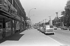 Verdun. 1973. Photo de Patricia Ling. P132-2_072-009. Archives de la Ville de Montréal. | par Archives de la Ville de Montréal Old Montreal, Montreal Ville, Verdun, Images, Photos, Street View, Canada, Rues, Coin