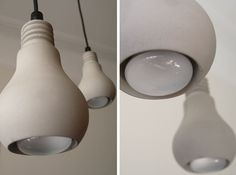 Concrete Edison Lamp by Tove Adman.