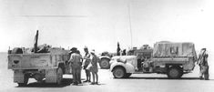 Medic truck MO and radio vehicle LRDG