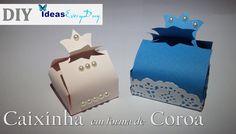 Molde de caixas com coroa - DIY - Boxes for gifts with crown