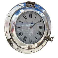 Deluxe Class Porthole 12'' Clock