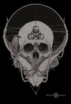 Adrian Baxter #skull #drawing #illustration