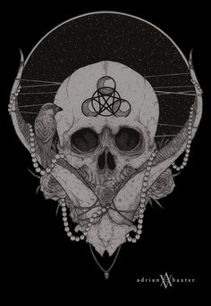 Adrian Baxter #skull #drawing #illustration