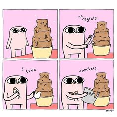 Dw, today is mi cheat day Cute Memes, Funny Quotes, Funny Memes, Hilarious, Cute Comics, Funny Comics, 4 Panel Life, Dc Memes, Comedy