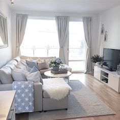 36 apartment decorating tips how to make a rental feel like home 1 Small Apartment Living, Small Apartment Decorating, Small Living Rooms, Home Living Room, Living Room Decor, Living Room Furniture Layout, Apartment Furniture, Living Room Designs, Small Furniture