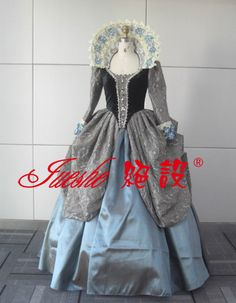 stunning high neck long sleeves Shakespeare drama vintage stage costume   46853d46439f