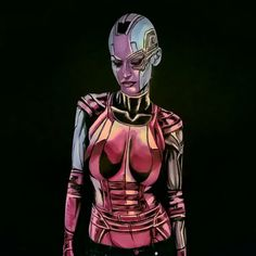 Hey all, This is the Nebula Bodypaint from last night http://www.twitch.tv/kaypikefashion I almost have the complete set, Nebula, Thanos, and Gamora so far! I actually did a decent job of getting the bald cap on properly. I am pleased. Can't wait to have to photos ready for this one. Wish me luck on finding time to do edits! Nebula was pretty fantastic to paint, still trying to figure out the blacks however! Overall its pretty good, I carried over my robotic techniques from DR Doom, and t...
