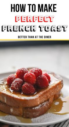 Learn how to make French Toast the simple (and delicious) way! Soft on the inside while brown and slightly crispy and buttery on the outside. Homemade Breakfast Sausage, Savory Breakfast, Sweet Breakfast, Breakfast Recipes, Brunch Recipes, Best Dessert Recipes, Fun Desserts, Delicious Desserts, What Is French Toast