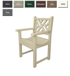 POLYWOOD® Chippendale Garden Chair