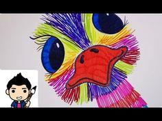 tekenen - struisvogel (dieren) School, Fictional Characters, Art, Craft Art, Kunst, Gcse Art, Art Education Resources
