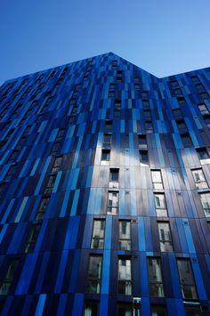 #RainbowAroundMe 4 @AsianPaints Metal PPC Rainscreen by @Sotech_ on Ian Simpson #Architects student residential scheme ' The View' Newcastle