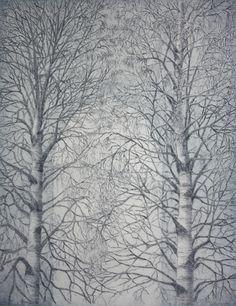 Portti - The Gate. Leena Talvitie, 2011. Printmaking, etching, aquatint.