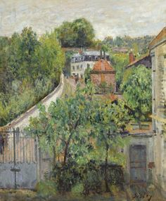 The Athenaeum - SISLEY, Alfred French Impressionist of Sèvres- circa 1879 Pierre Auguste Renoir, Edouard Manet, Impressionist Landscape, Impressionist Paintings, Impressionism Art, Landscape Paintings, Oil Paintings, Claude Monet, Camille Pissarro