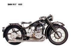 BMW models, which were also notable as the first BMWs to have a four-speed gearbox. First seen at the Berlin Motor Show in February 1935 Bobber Bikes, Bmw Motorcycles, Vintage Motorcycles, Bmw R1200rt, Bike Bmw, Bmw Vintage, Vintage Cafe Racer, Bmw Classic Cars, Classic Bikes