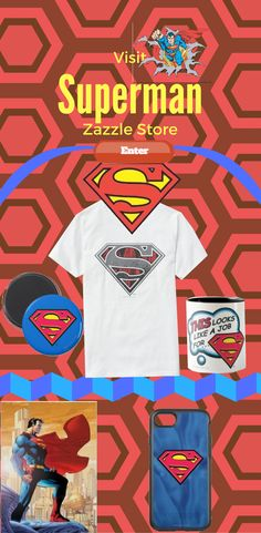 Superman™: Official Merchandise at Zazzle Samsung Cases, Iphone Cases, Superman, Wallets, Random Stuff, Cups, Store, T Shirt, Design