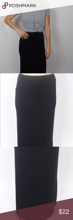 Black maxi skirt This light & flowing black maxi skirt is perfect for any season or occasion. Pair with a printed tank or tee for a casual outfit, or a dressy top for a night at the movies! Skirts Maxi