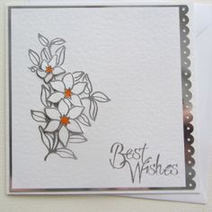 This beautiful hand crafted card uses the finest hammered card stock