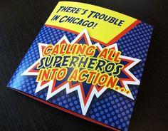 Superhero Birthday Invitation. $3.20, via Etsy.