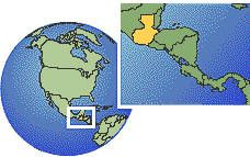 Guatemala as a marked location on the globe