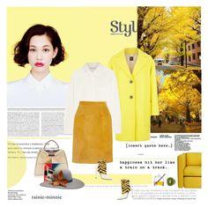 """Color Me Yellow"" by rainie-minnie ❤ liked on Polyvore featuring moda, Shiseido, Fendi, Weekend Max Mara, Charlotte Tilbury, Madewell, Topshop Unique, Wrong for Hay, LSA International e The Season Hats"