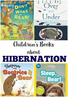 These children's books about hibernation are perfect for learning how animals prepare for winter! Check them out with these hibernation unit resources!