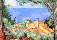 L'Estaque aux toits rouges par Paul CEZANNE (1839-1906)