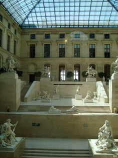 The Marley sculpture court. Louvre Museum.