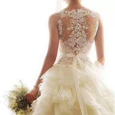 Amazing lace back wedding dress!
