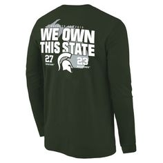 GO Green!  Michigan State Spartans vs. Michigan Wolverines 2015~ We Own This State!