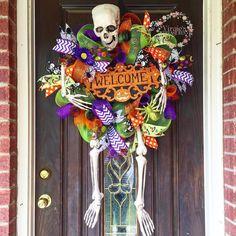 Large skeleton wreath